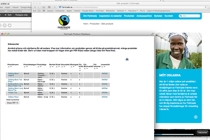 Fairtrade produktkatalog