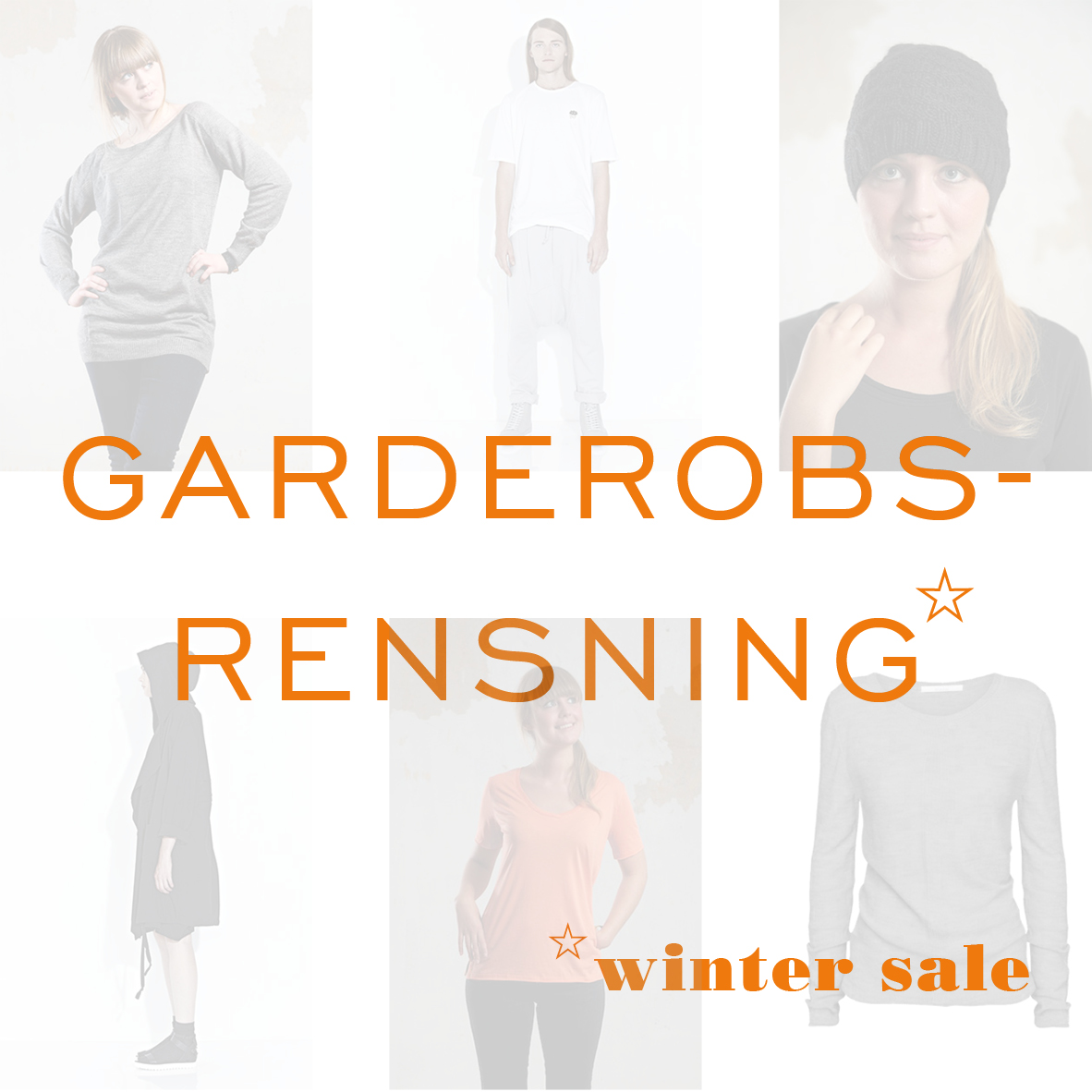 Garderobsrensning winter sale 2014