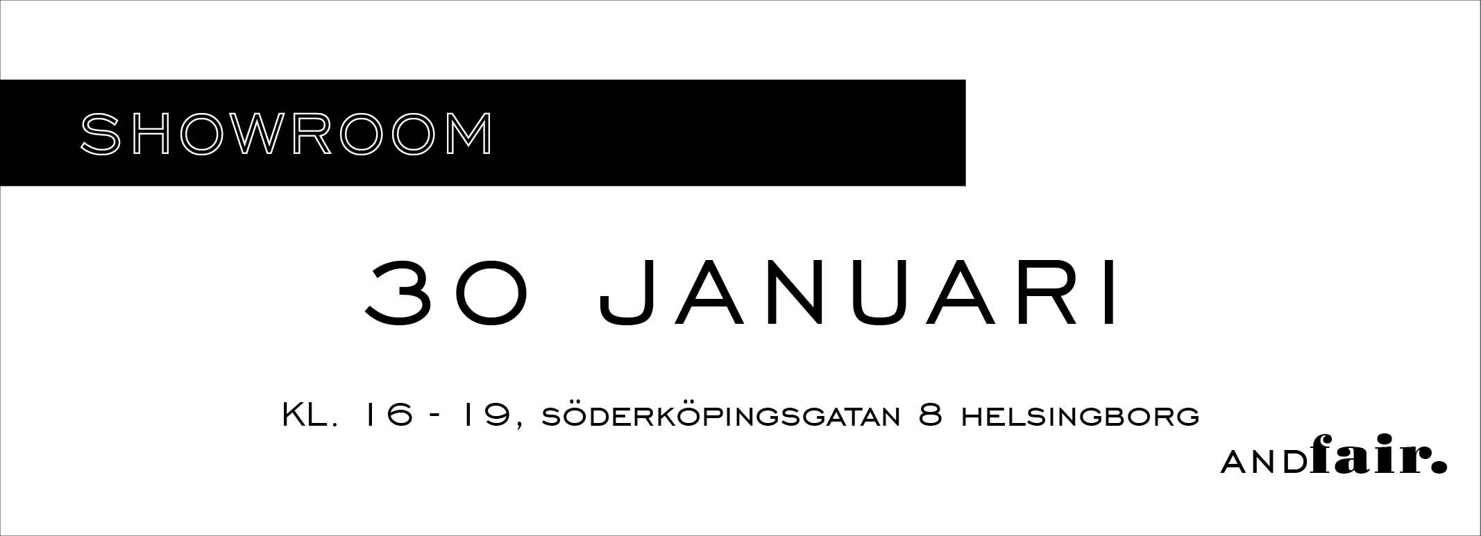 showroom 30 januari ANDfair